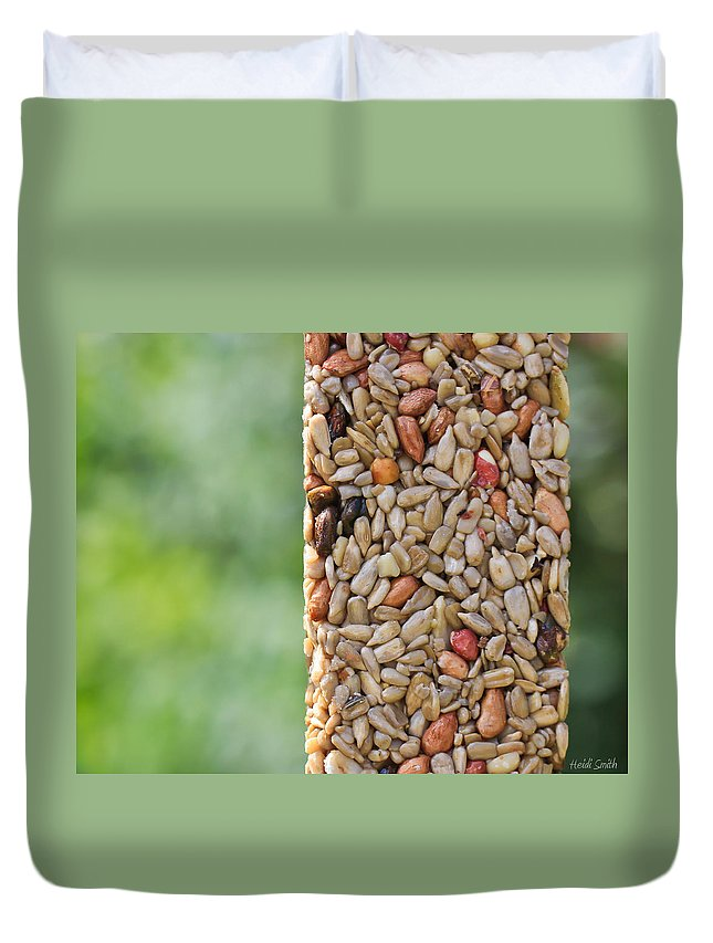 Seeds Duvet Cover featuring the photograph For The Birds by Heidi Smith