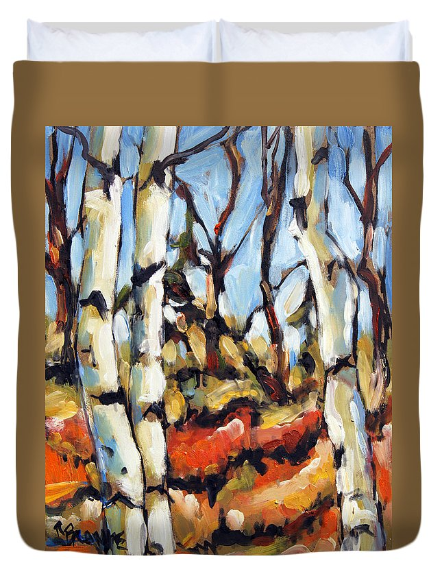 Art Duvet Cover featuring the painting Forest Edge By Prankearts by Richard T Pranke