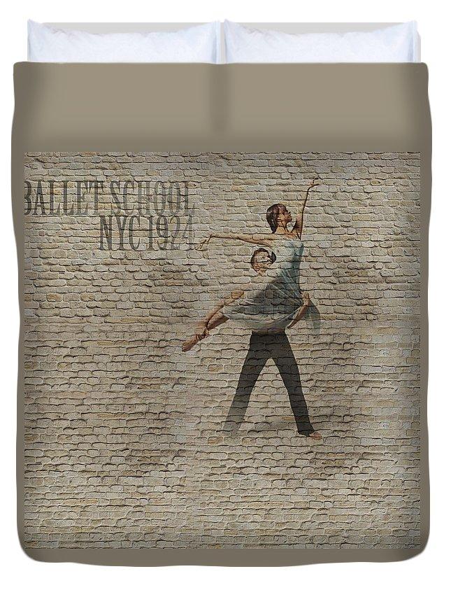 Dancer Duvet Cover featuring the photograph Forgotten Romance 3 by Naxart Studio
