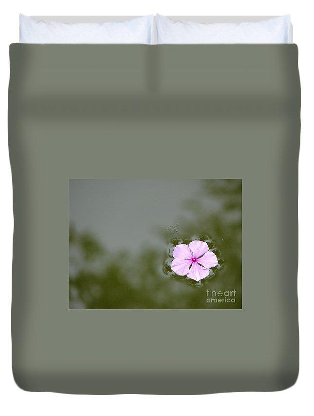 Petals Duvet Cover featuring the photograph Forgotten by Priscilla Richardson