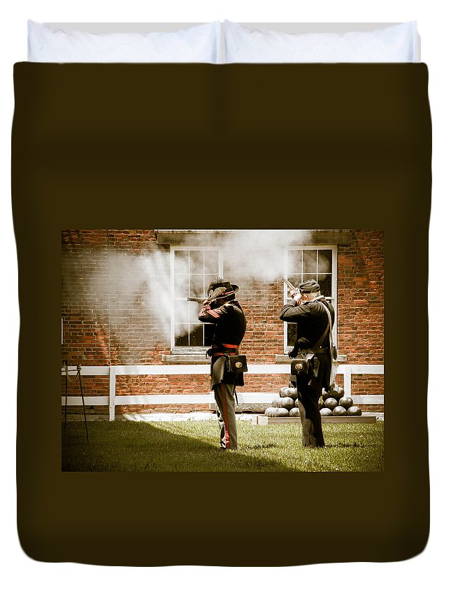 Fort Delaware Duvet Cover featuring the photograph Fort Delaware Military by Trish Tritz