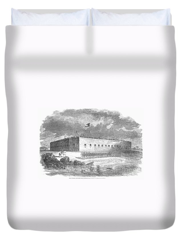 1861 Duvet Cover featuring the photograph Fort Pulaski, Georgia, 1861 by Granger