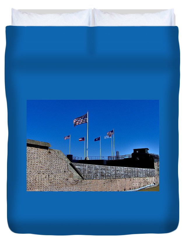 Fort Sumter Duvet Cover featuring the photograph Fort Sumter by Tommy Anderson