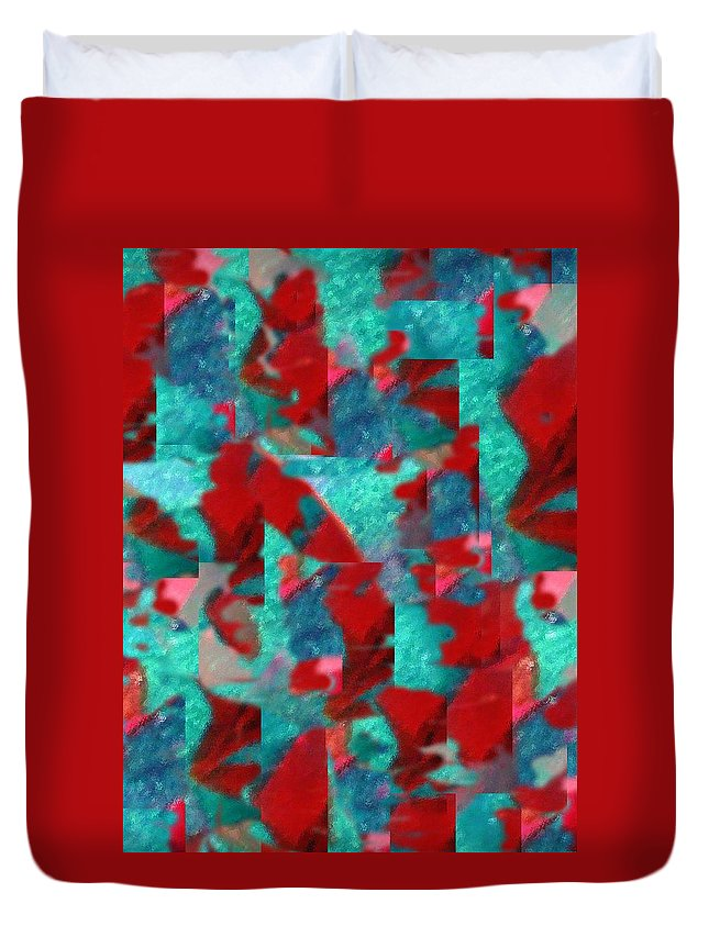 Non Duality Duvet Cover featuring the digital art Fractured Memories by Paula Andrea Pyle