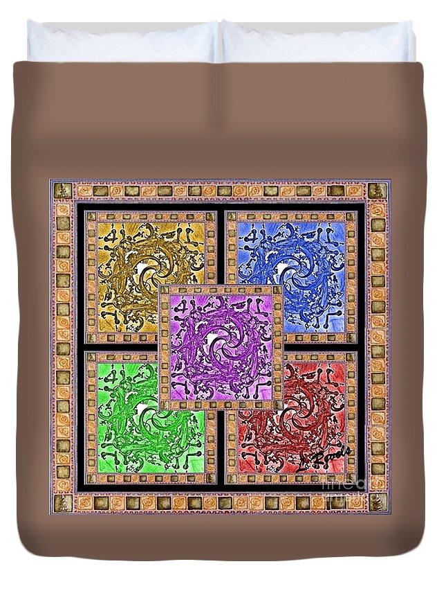Digital Duvet Cover featuring the digital art Framed by Leslie Revels