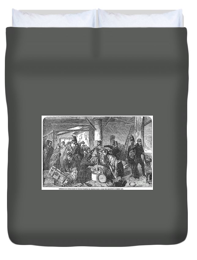 1854 Duvet Cover featuring the photograph France: Custom House, 1854 by Granger