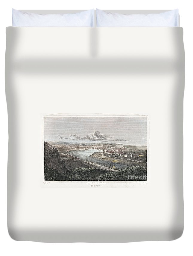 1822 Duvet Cover featuring the photograph France: Dieppe, 1822 by Granger
