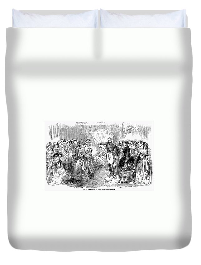 1856 Duvet Cover featuring the photograph France: Imperial Prince by Granger