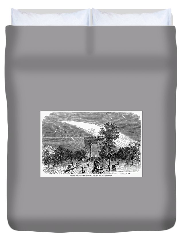 1868 Duvet Cover featuring the photograph France: Meteor, 1868 by Granger