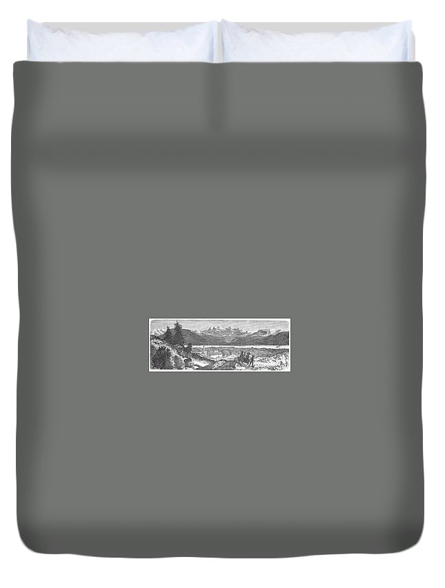 1856 Duvet Cover featuring the photograph France: Spa, 1856 by Granger