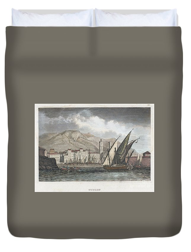 1850 Duvet Cover featuring the photograph France: Toulon, C1850 by Granger