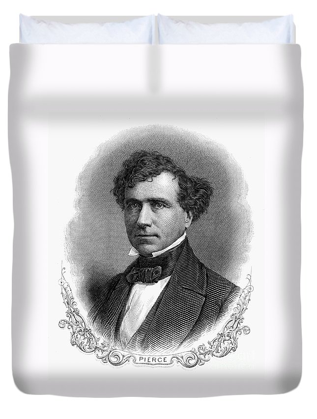 19th Century Duvet Cover featuring the photograph Franklin Pierce (1804-1869) by Granger