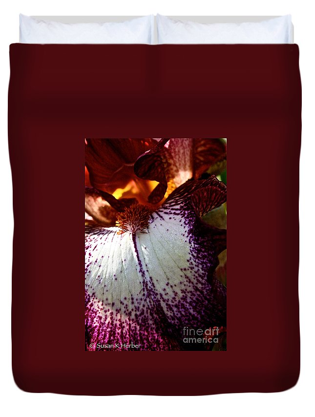 Plant Duvet Cover featuring the photograph Freckles by Susan Herber