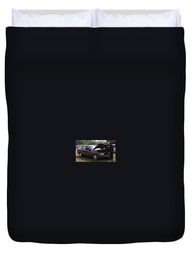 Nigeria Duvet Cover featuring the photograph Fred The Car by Amy Hosp