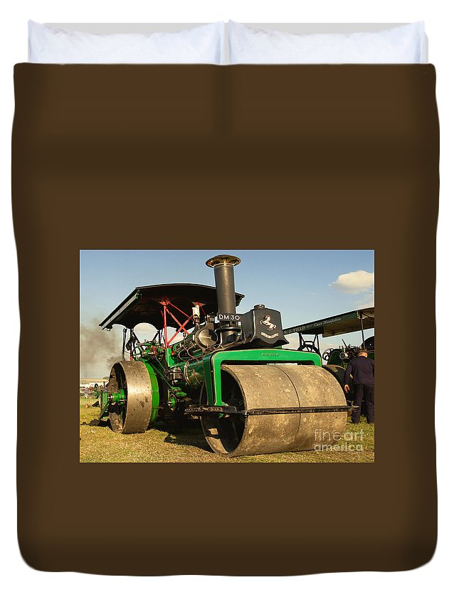 Fred Dibnah Duvet Cover featuring the photograph Fred's Betsy by Rob Hawkins