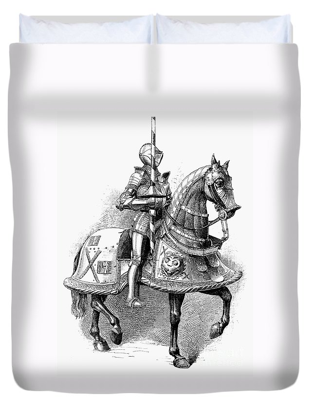 16th Century Duvet Cover featuring the photograph French Knight, 16th Century by Granger