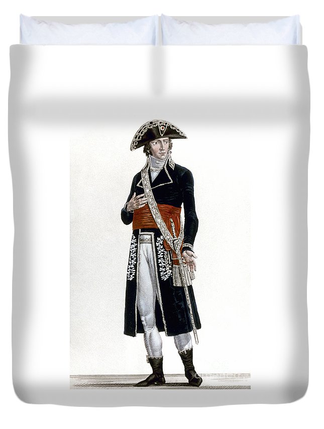 1800 Duvet Cover featuring the photograph French Rev: Prefect, C1800 by Granger