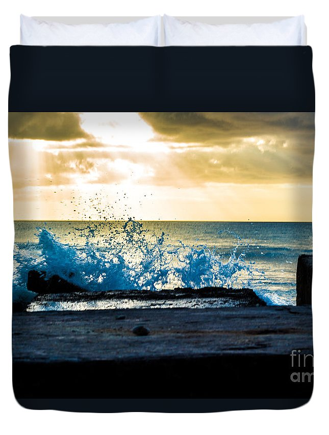 Bvi Duvet Cover featuring the photograph From The Heavens by Rene Triay Photography
