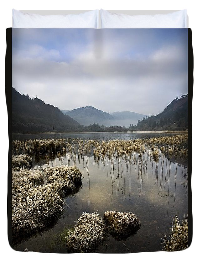 Frost Duvet Cover featuring the photograph Frosty Winters Morning, Lower Lake by Peter McCabe