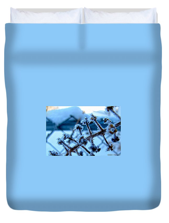 Nature Duvet Cover featuring the photograph Frozen II by Debbie Portwood