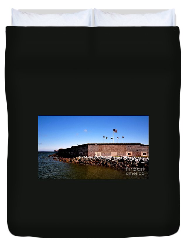 Fort Sumter Duvet Cover featuring the photograph Ft Sumter by Tommy Anderson