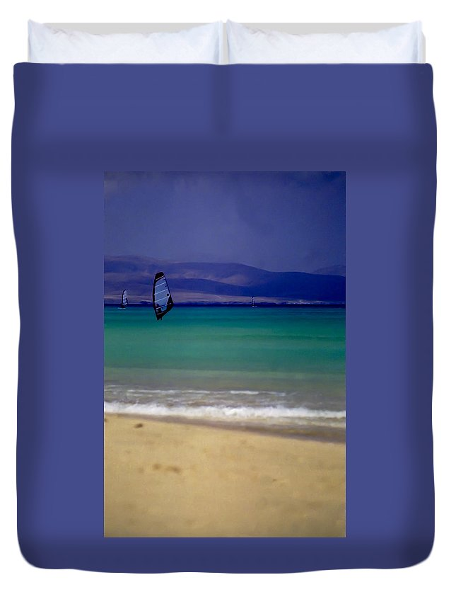 Fuerteventura Duvet Cover featuring the photograph Fuerteventura by Michele Mule'
