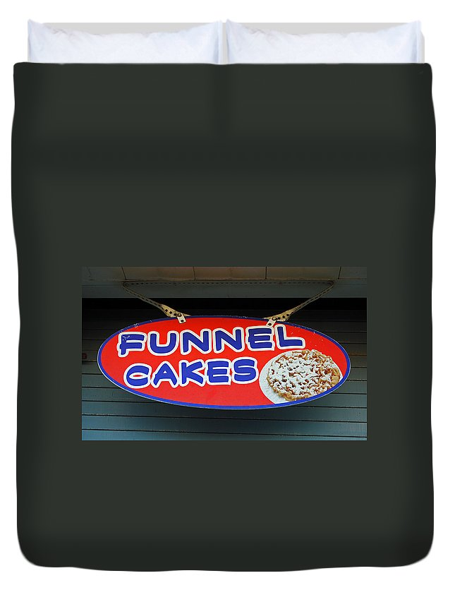Fair Duvet Cover featuring the photograph Funnel Cakes by Skip Willits