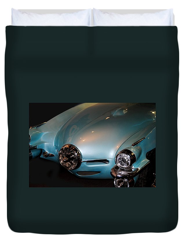 Studebaker Duvet Cover featuring the photograph Fx58 Studebaker by Diane Wood
