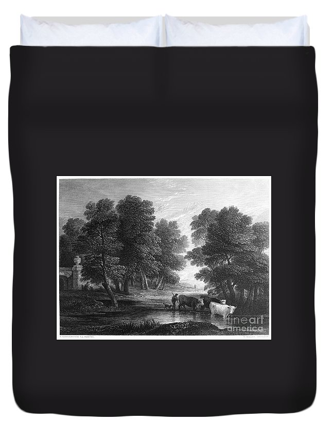 18th Century Duvet Cover featuring the photograph Gainsborough: Scenic View by Granger