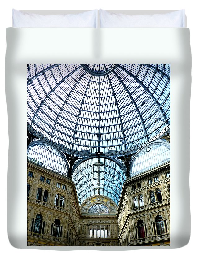 Galeria Duvet Cover featuring the photograph Galeria Umberto's Dome by Carla Parris