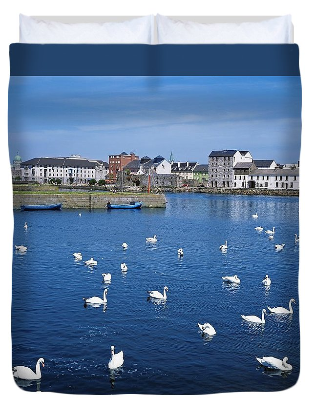 Bird Duvet Cover featuring the photograph Galway, County Galway, Ireland by The Irish Image Collection