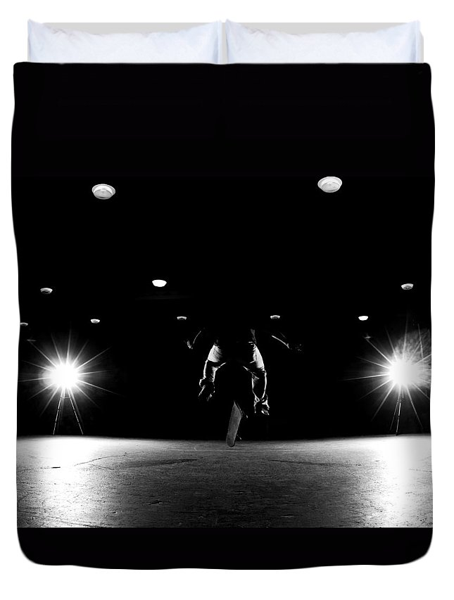 Skate Duvet Cover featuring the photograph Game Of Skate by Cale Best