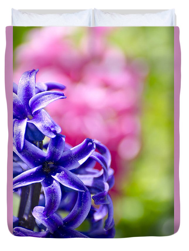 Hyacinth Duvet Cover featuring the photograph Garden Color Splash by Jim And Emily Bush