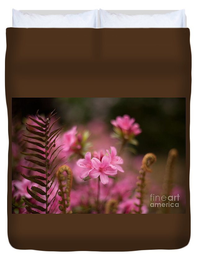 Rhodies Duvet Cover featuring the photograph Garden Of Friends by Mike Reid