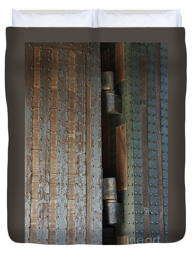 Duvet Cover featuring the photograph Gates Of Imperial Palace by Eena Bo