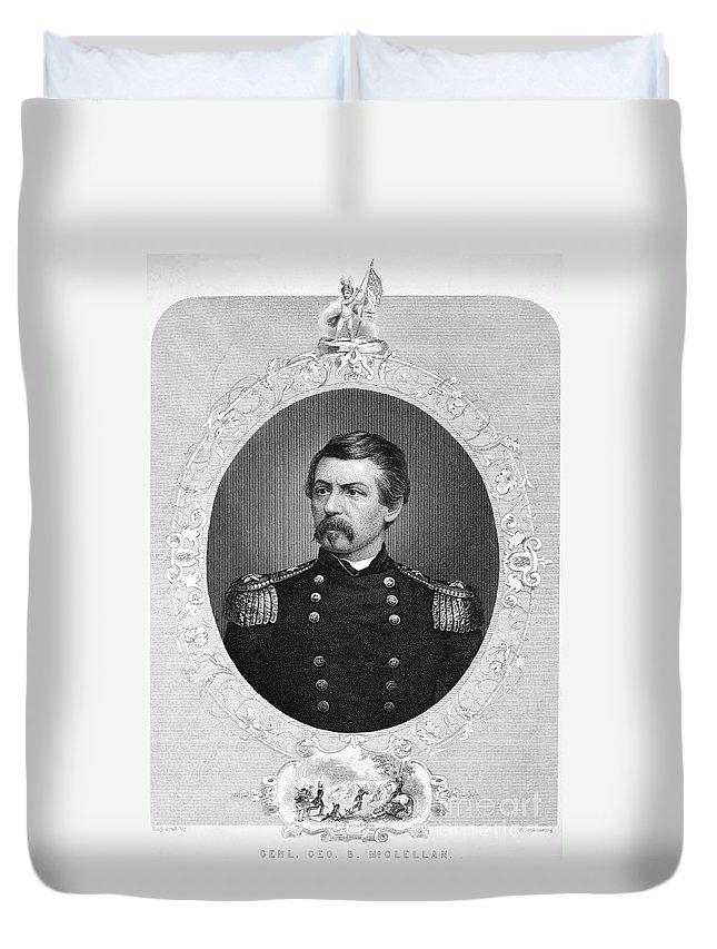 1862 Duvet Cover featuring the photograph George Brinton Mcclellan by Granger