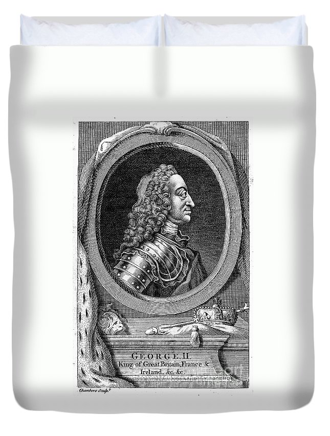18th Century Duvet Cover featuring the photograph George II (1683-1760) by Granger