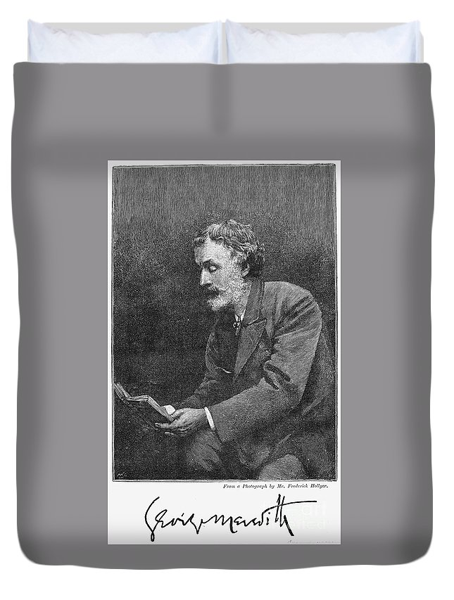 1891 Duvet Cover featuring the photograph George Meredith (1828-1909) by Granger