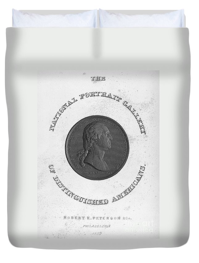 18th Century Duvet Cover featuring the photograph George Washington (1732-1799) by Granger