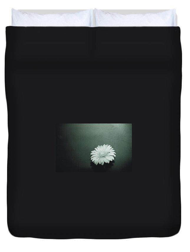 Gerbera Duvet Cover featuring the photograph Gerbera by Cheryl Hucke