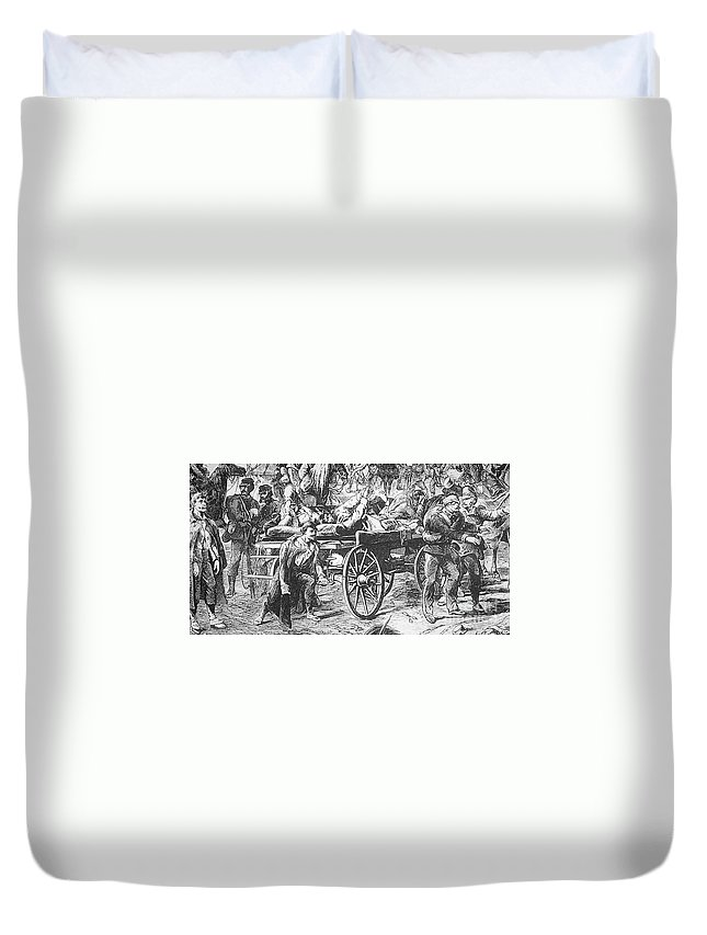 1866 Duvet Cover featuring the photograph Germany: Seven Weeks War by Granger