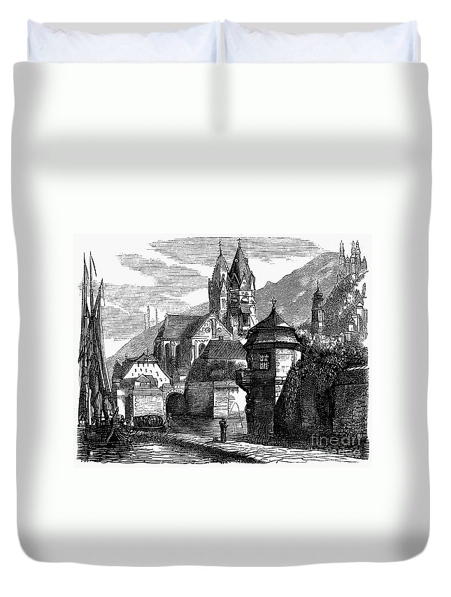 1870 Duvet Cover featuring the photograph Germany: W�rzburg by Granger