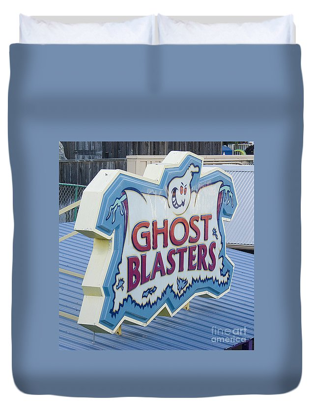 Ghost Duvet Cover featuring the photograph Ghost Blasters by Jim And Emily Bush
