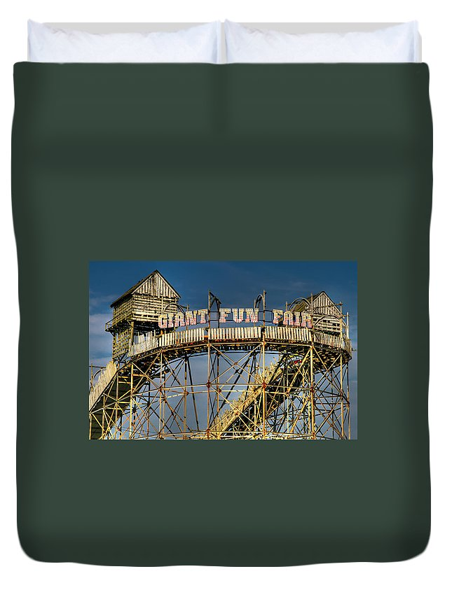 Fair Duvet Cover featuring the photograph Giant Fun Fair by Adrian Evans
