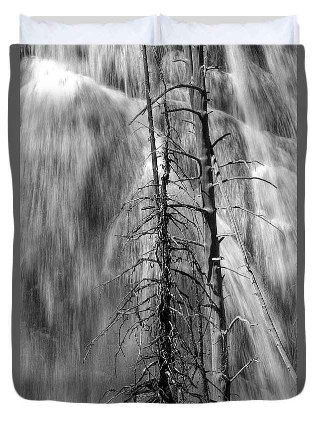 Art Duvet Cover featuring the photograph Gibbons Falls In Yellowstone National Park by Randall Nyhof