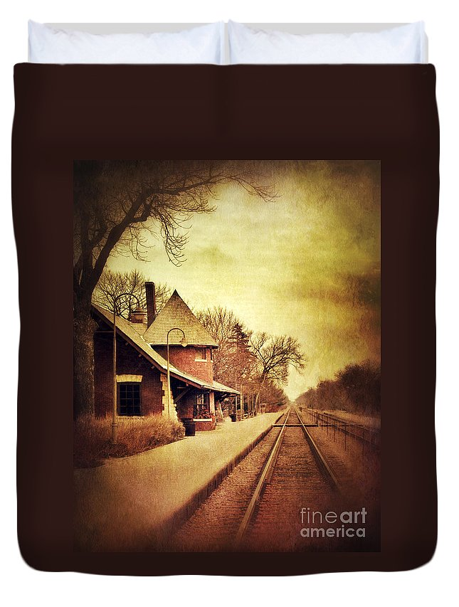 Station Duvet Cover featuring the photograph Glencoe Train Station by Jill Battaglia