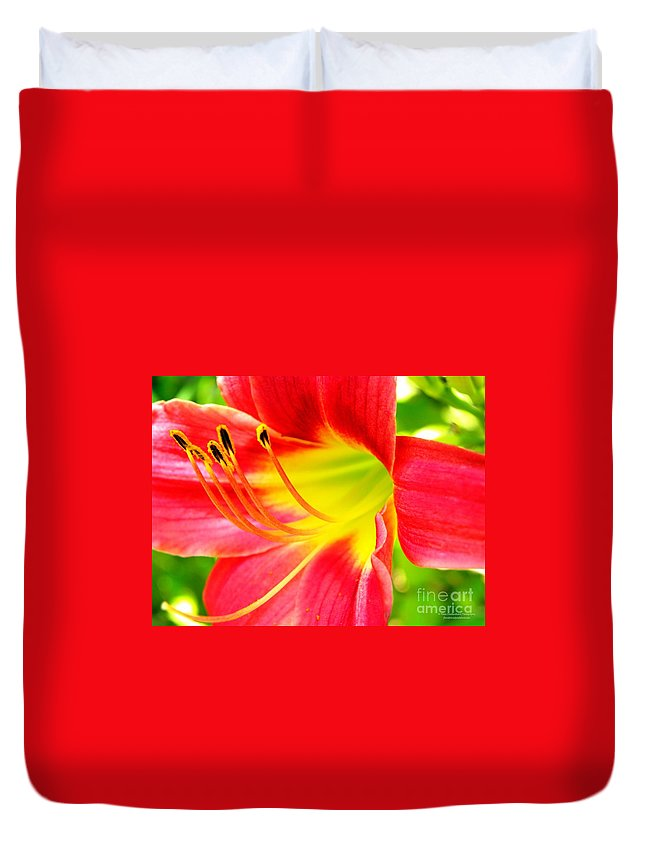 Lily Duvet Cover featuring the photograph Glenna's Loving Legacy by Tisha Clinkenbeard