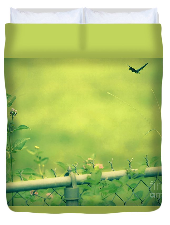 God's Love Duvet Cover featuring the mixed media God's Love Series One by Kim Henderson