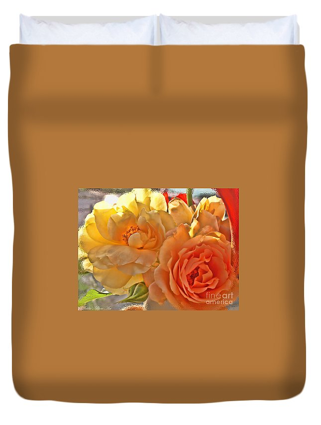 Nature Duvet Cover featuring the photograph Golden Light by Debbie Portwood