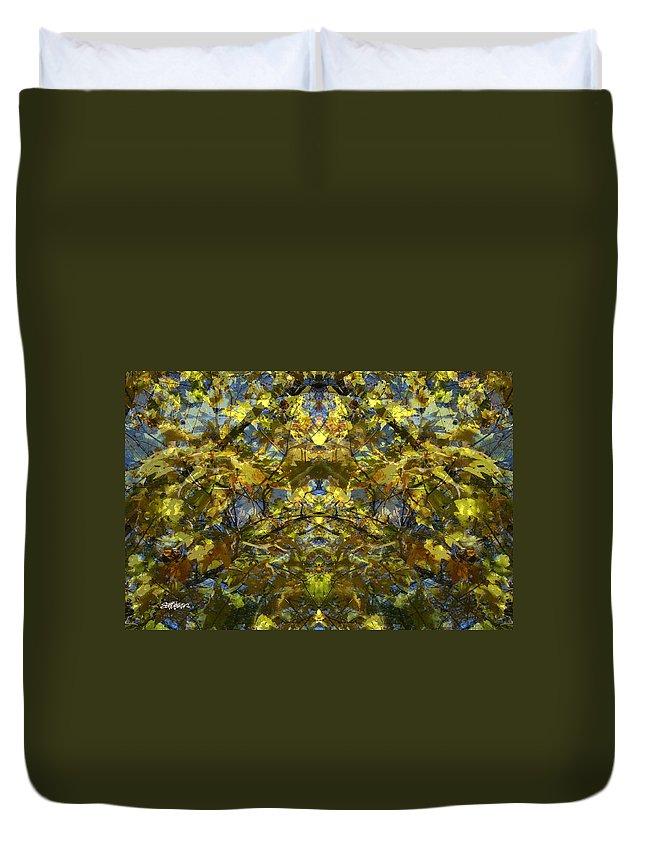 Golden Rorschach Duvet Cover featuring the photograph Golden Rorschach by Seth Weaver